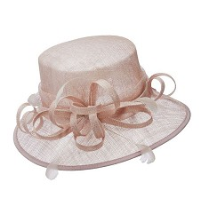 The Sinamay Curley Cue Hat Champagne