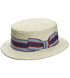 Men's Derby Multi-Stripe Boater Hat