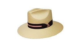 Men's Kentucky Derby Downturn Toyo Fedora Ivory Small