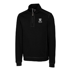 Kentucky Derby 143 Embroidered Bayview 1/2 Zip Jacket,Cutter & Buck,MCK09323BLK MONO