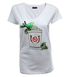 Kentucky Derby Icon Mint Julep Foil Tee,7811L
