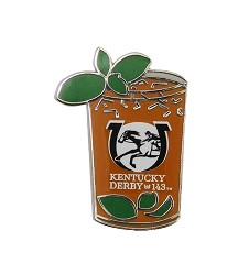 Kentucky Derby 143 Mint Julep Lapel Pin