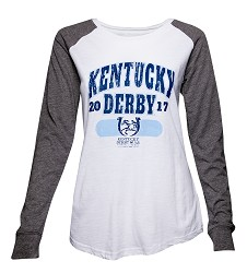Kentucky Derby 143 Elbow Patch Tee,T66WGR-143LOGO