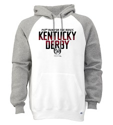 Kentucky Derby 143 2-Tone Hoodie White Large