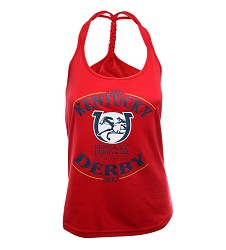 Kentucky Derby 143 Full Logo Ladies' Braided Tank,AVK-OR42 KD15