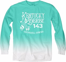 Kentucky Derby 143 Tin Roof Ombre Tee Seafoam Green Large