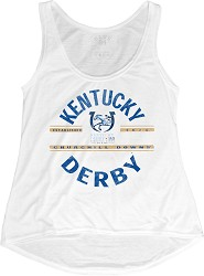 Kentucky Derby 143 Happy Place Liquid JerseyTank,NZTX JHLT WHITE
