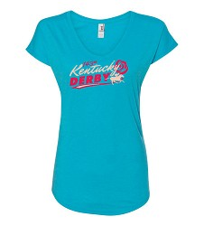 Kentucky Derby 143 Ladies' Retro Tee,7KLTRB CARIBBEAN BLU