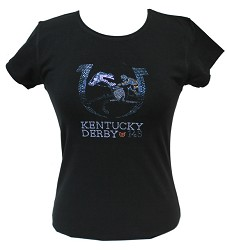 Kentucky Derby 143 Bling Tee,Bling Apparel & Accessories,TS-001 LOGO 1