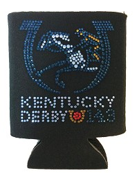 Kentucky Derby 143 Bling Coozie Black