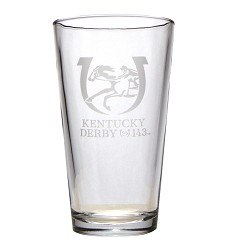 Kentucky Derby 143 Ale Glass,01-355 LITE ETCH