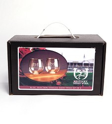 Kentucky Derby 143 Stemless Wine Box Set 16 Ounces