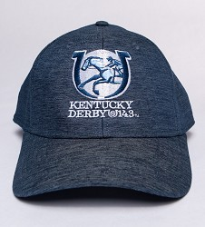 Kentucky Derby 143 Heather Cotton Monochromatic Cap Denim Blue