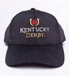 Kentucky Derby Icon Reverse Heather Cap Black