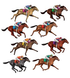 Race Horse Props Pack of 8