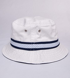 Kentucky Derby 143 Oxford Bucket Hat,C81P 143AC1 WHT/NVY