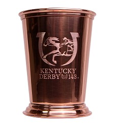 Kentucky Derby 143 Engraved Copper Julep Cup,80-034