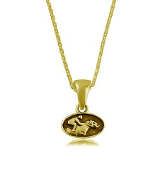 Racehorse Necklace Gold