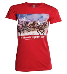 2017 Art of the Derby Ladies Tee,Kentucky Derby 143-Art of the Derby,KELLY 60/40
