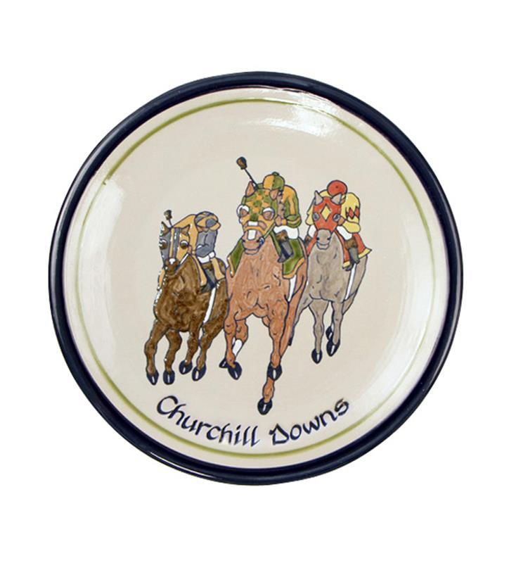 Churchill Downs Comin' At Ya Plate by Louisville Stoneware,CAYD898 11""