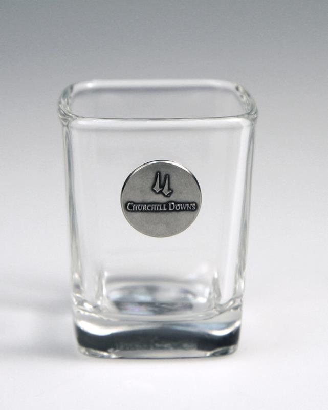 Churchill Downs Emblem Shot Glass,KSG402 CD SHOT