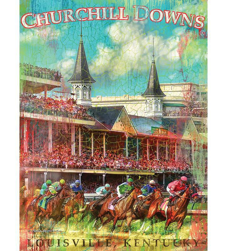 Churchill Downs First Turn Print,4361-P