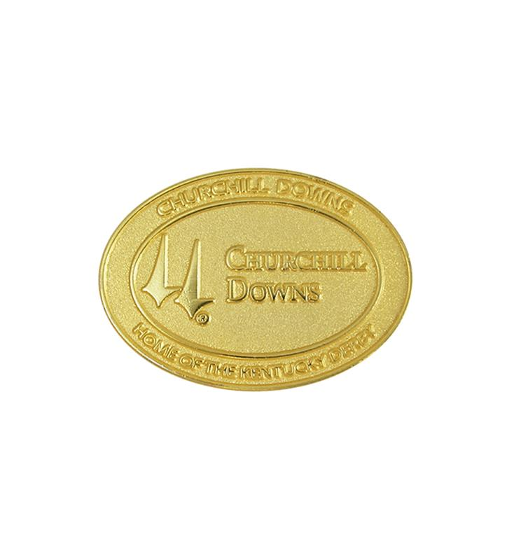 Churchill Downs Oval Lapel Pin,KLPCD01 OVAL PIN