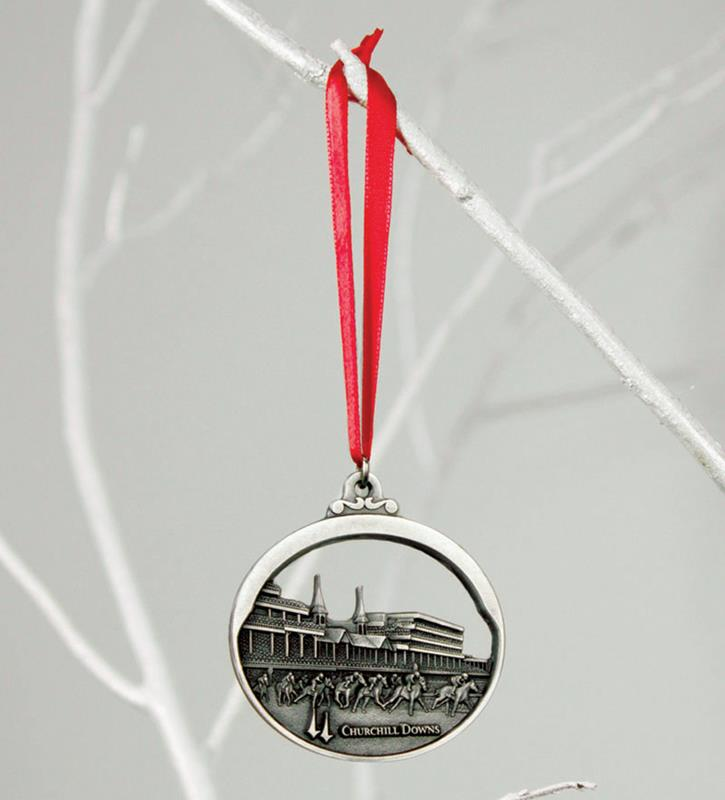 Churchill Downs Pewter Ornament,KOR204 PEWTER