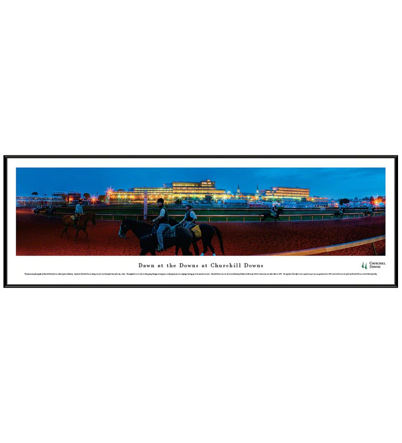 Churchill Downs Dawn at the Downs Panorama,CD4 FRAMED