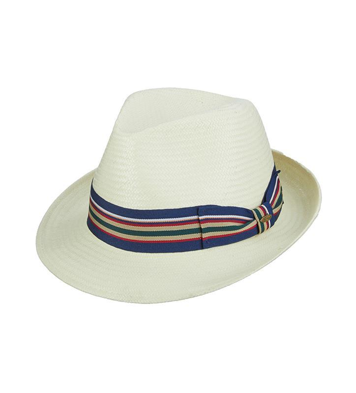 Ivory Ribbon Fedora,MD41-IVORY RIBB