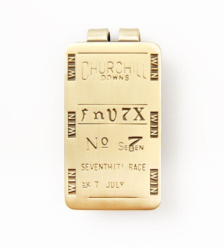 Lucky Winning Ticket Money Clip,KMC901 BRASS