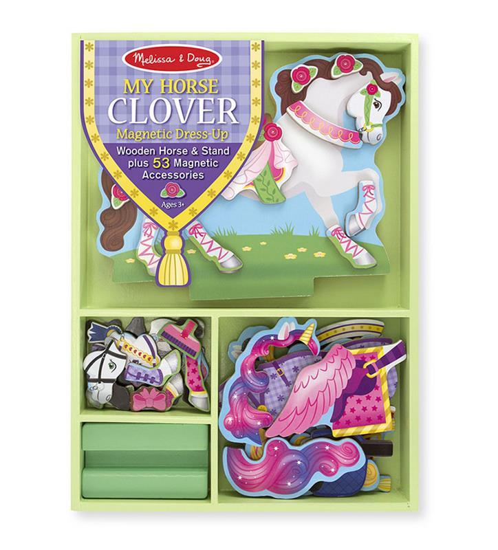 Magnetic Clover Dress-Up Horse,8591