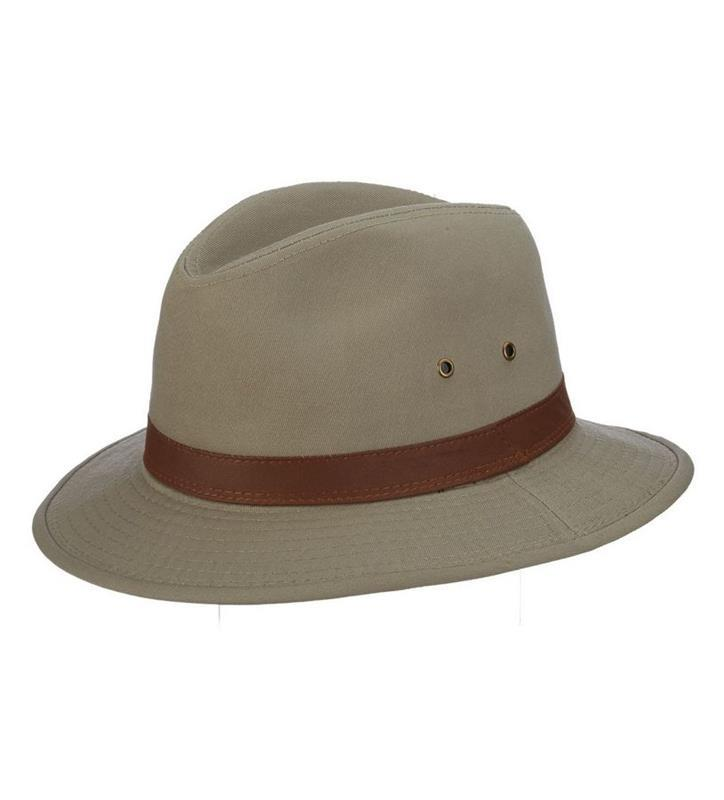 Men's Washed Twill Safari Hat,863L