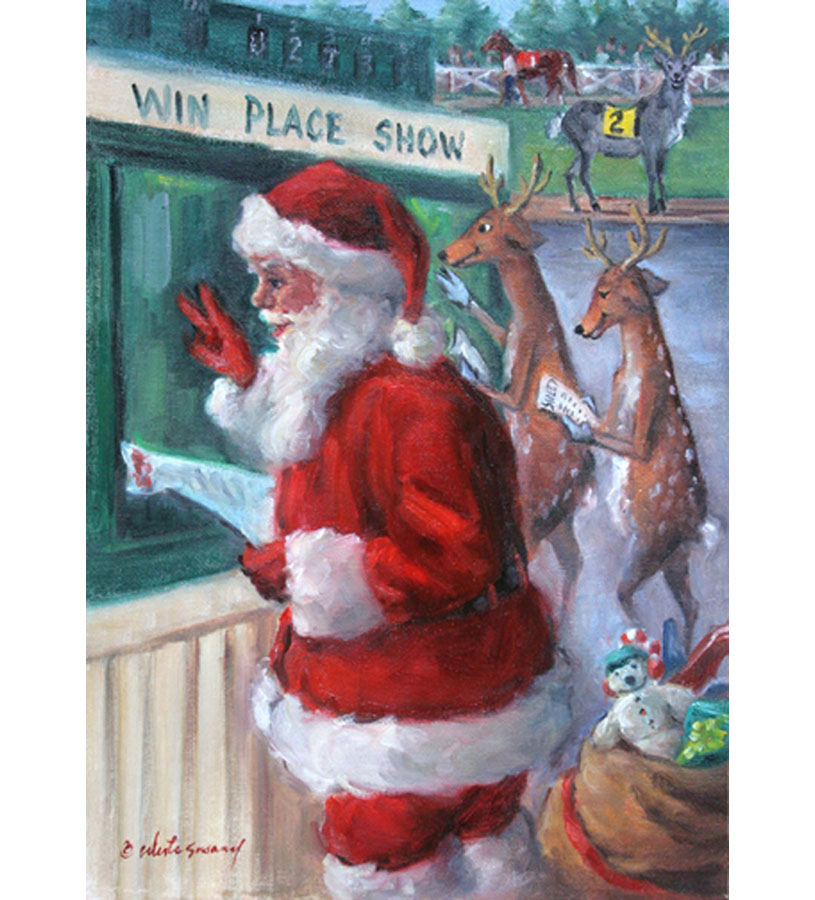 Santa Bets Holiday Card Set,SURE THING 141