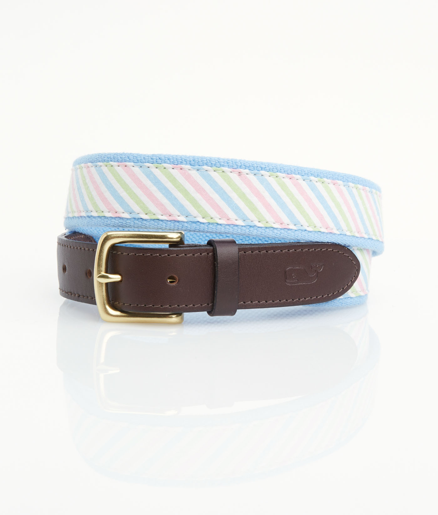 Three-Color Seersucker Belt,1A1003-998 MULT