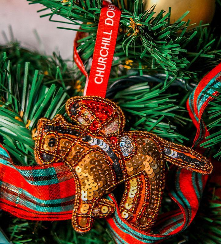 Sequin Horse Churchill Downs Ornament,5908