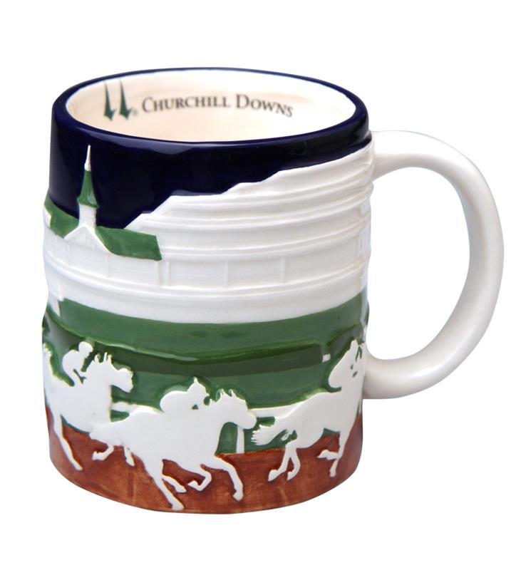 Grandstand Embossed Mug,CER610