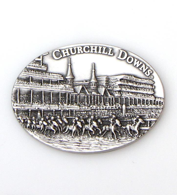 Churchill Downs First Turn Pewter Magnet,38203871