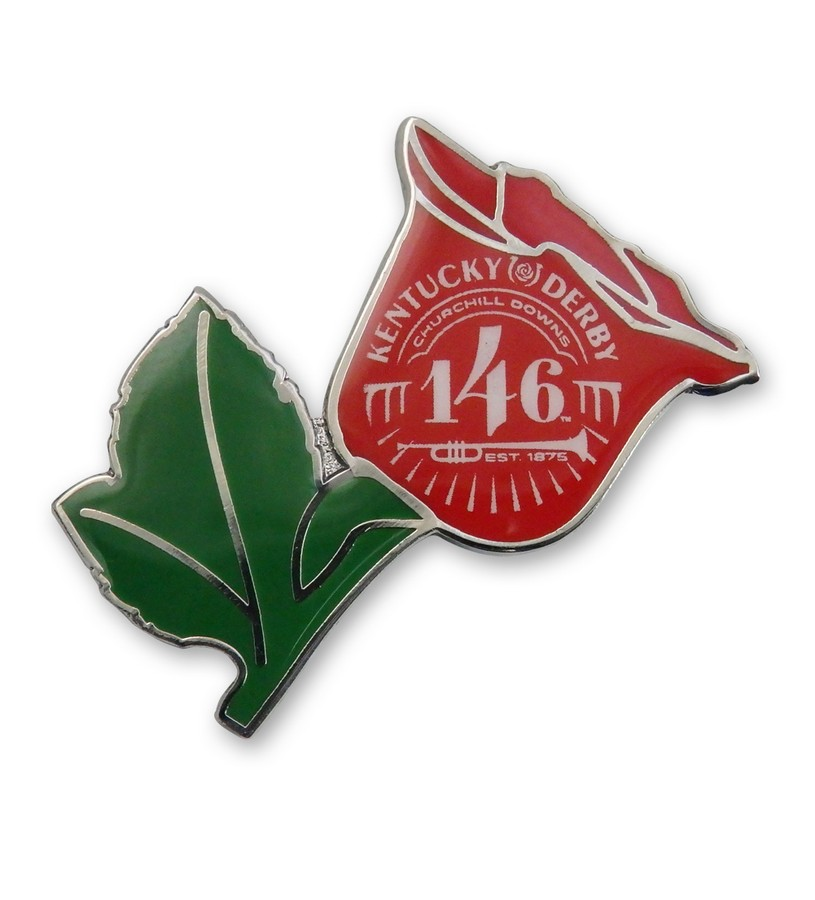 Kentucky Derby 146 Rose Lapel Pin,KLP2008