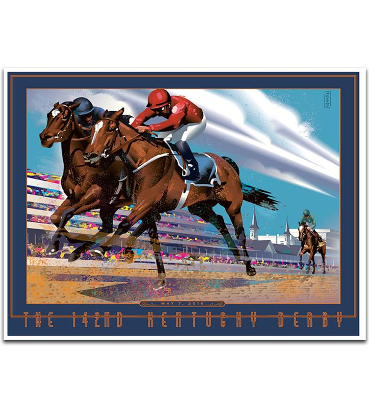 Art of the Derby 2016 Poster,JS16KP 18X24