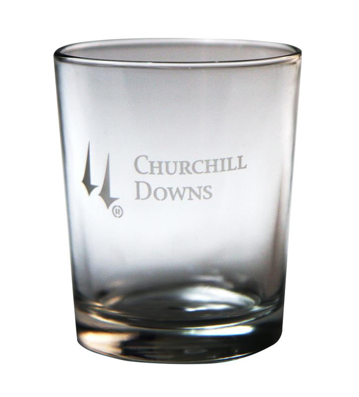Churchill Downs Etched Tavern Whiskey Tumbler,03-003 LT ETCH 12 OZ