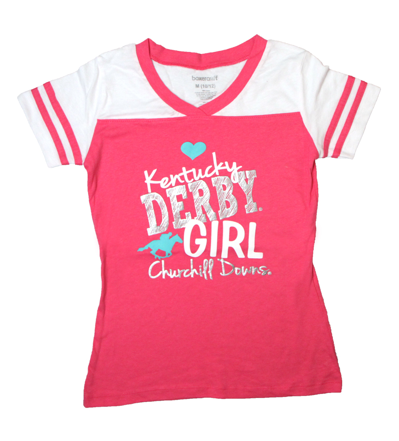 Kentucky Derby Girl Varsity Tee,YT65DI-DERBYGIRL