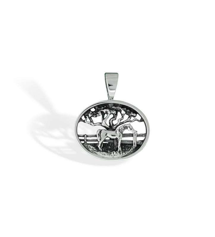 297-10 Horse Paddock Scene Pendant,Darren K. Moore,297-10 PENDANT