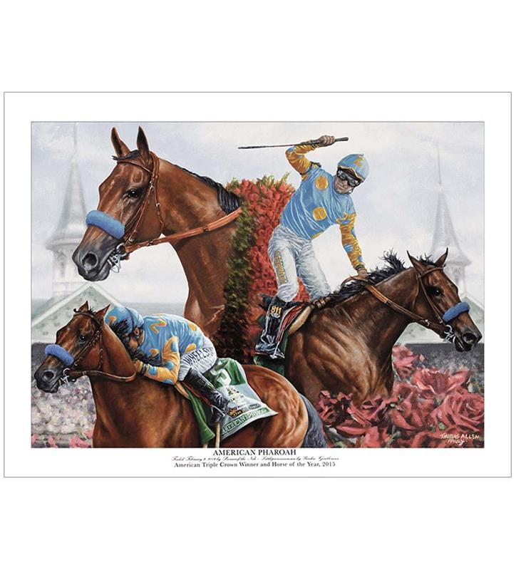 American Pharoah Kentucky Derby Museum Exclusive Print,TAP KDM PHAROAH