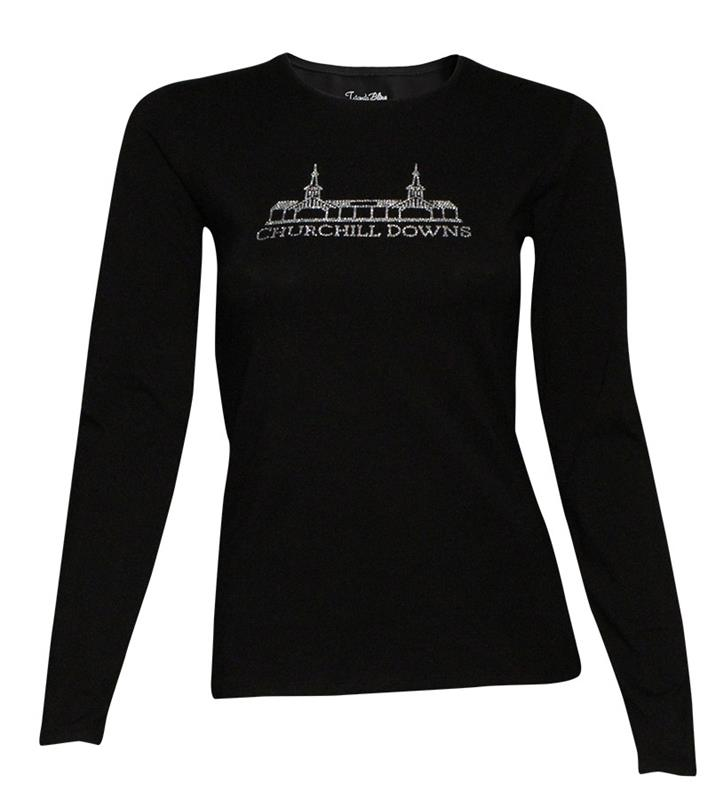 Grandstand Longsleeve Bling Tee,TSL-001 GRANDSTAND