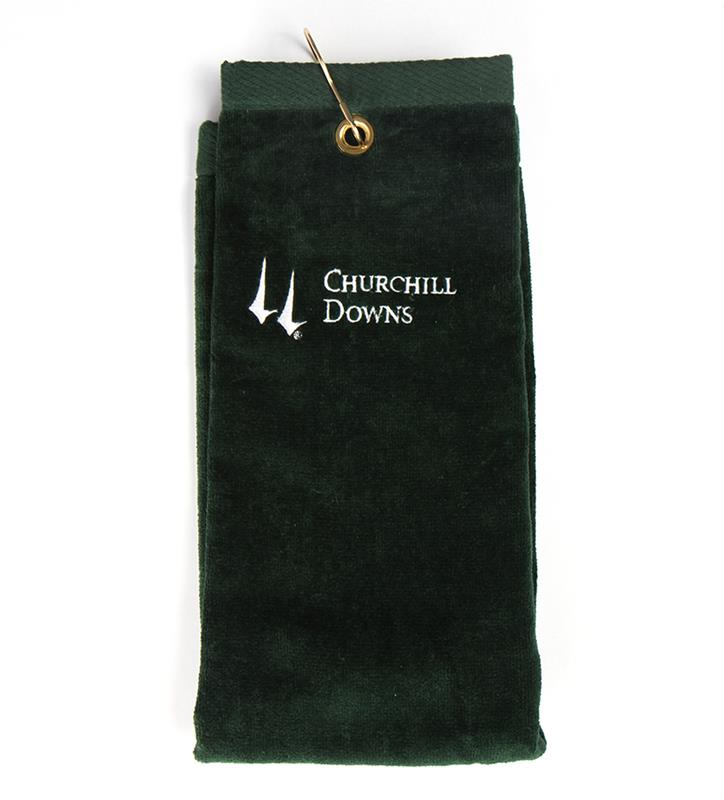 Churchill Downs Embroidered Golf Towel,GOLF TOWEL CD