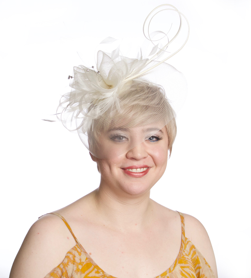 The Crinoline Veil Fascinator,LDF50-ASST IVORY