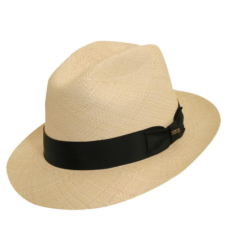 Men's Derby Snap Brim Panama Hat,P179-NATURAL