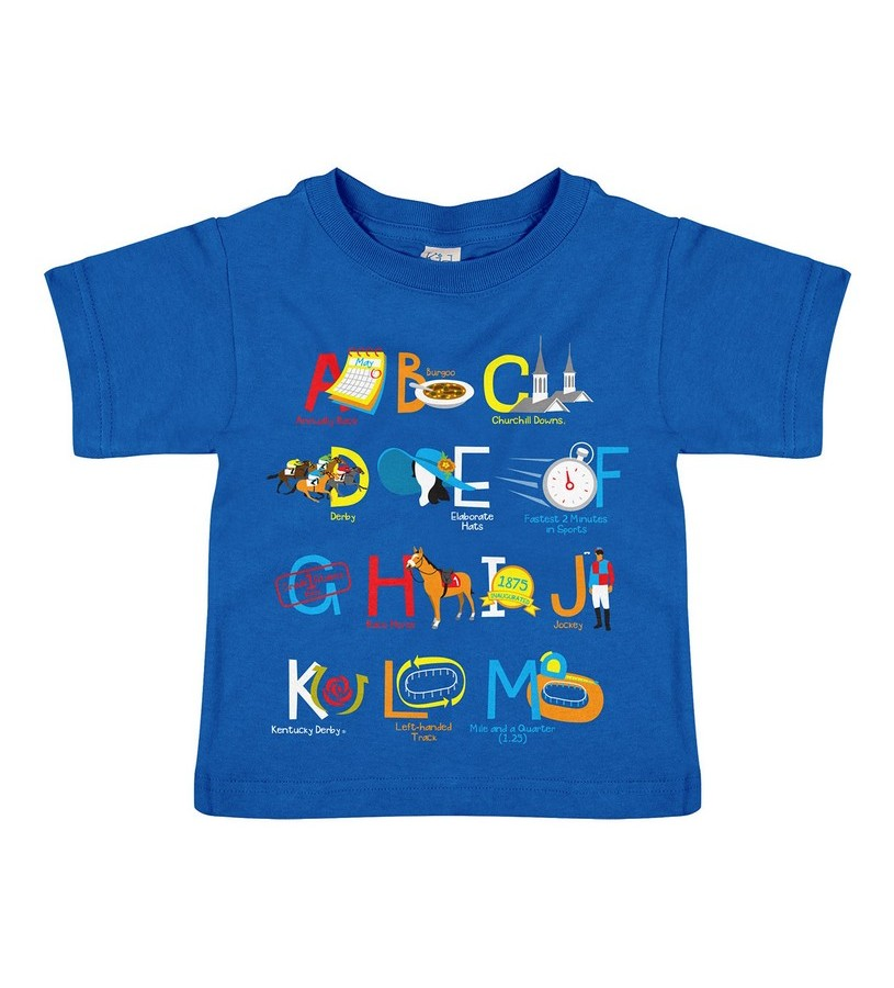 ABC's Kentucky Derby Toddler Tee,3922 ROYAL