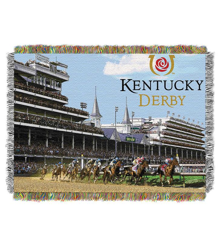 """Race Time"" Tapestry Blanket,051 RACE 48 X 60"